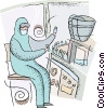 Vector Clipart graphic  of a research scientist