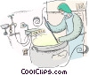 nuclear technician Vector Clip Art graphic