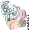 ear doctor Vector Clipart graphic