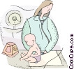 Vector Clip Art graphic  of a pediatrician