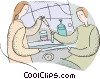 Vector Clipart graphic  of a science experiment
