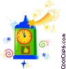 Mantle clock Vector Clip Art picture