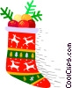 Vector Clipart picture  of a Christmas stocking