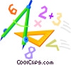School math supplies Vector Clip Art graphic