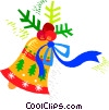 Decorative Christmas bell Vector Clipart picture