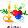Vector Clipart image  of a Christmas decorations and