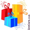 Vector Clipart graphic  of a Christmas gifts