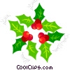 Vector Clip Art image  of a Christmas holly