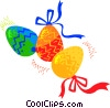 Vector Clip Art graphic  of a Painted Easter eggs