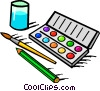 Vector Clipart picture  of a water color paint set