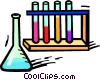beaker and test tubes Vector Clip Art graphic