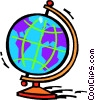 Vector Clip Art graphic  of a globe