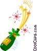 Vector Clipart picture  of a Champagne bottle
