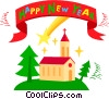 New Year's banner Vector Clipart illustration