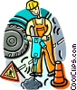 construction workers Vector Clip Art picture