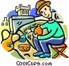 archeologists Vector Clipart illustration