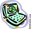 laptop computer Vector Clipart graphic
