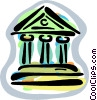 Vector Clip Art image  of a financial institutions