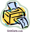 Vector Clipart illustration  of a computer printers