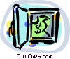 Vector Clipart picture  of a bank vaults