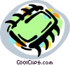 Vector Clip Art picture  of a computer chip