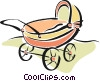 baby carriage Vector Clipart graphic