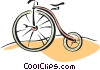 penny farthing bike Vector Clipart graphic