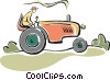 tractor Vector Clipart illustration