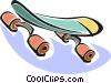 Vector Clipart picture  of a skateboards