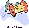 Vector Clip Art graphic  of a thread