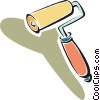 Vector Clipart graphic  of a paint roller