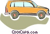 Vector Clip Art image  of a sport utility vehicle