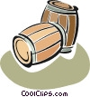 Vector Clipart graphic  of a barrels