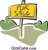 for sale sign Vector Clipart image