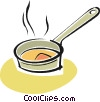 Vector Clipart image  of a frying pan