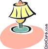 Vector Clipart graphic  of a table lamp