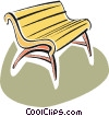 park bench Vector Clip Art picture