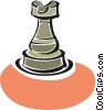 Vector Clip Art image  of a rook chess piece