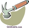 Vector Clip Art graphic  of a hammer