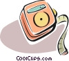 measuring tape Vector Clipart illustration