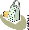 Vector Clipart graphic  of a cheese grater