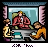 businessman in a meeting Vector Clip Art graphic