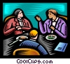 Vector Clipart graphic  of a business meeting