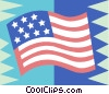 Vector Clipart graphic  of an American flag
