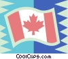 Canadian flag Vector Clipart illustration