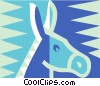 Vector Clip Art picture  of a donkey