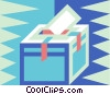 Vector Clipart image  of a Ballot box