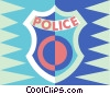 police badge Vector Clip Art picture