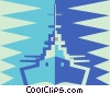 Vector Clip Art image  of a battle ship