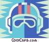 bikers helmet Vector Clip Art picture